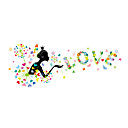 tanie Wydruki-Dekoracyjne naklejki ścienne - Naklejki ścienne ze słowami i cytatami Romans / Moda / Wzory roślinne Salon / Sypialnia / Łazienka
