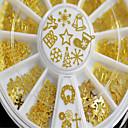 abordables Decoraciones y Diamantes Sintéticos para Manicura-Glitters Metálico Moda Alta calidad Diario 1