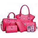 cheap Wallets-Women's Bags PU(Polyurethane) Bag Set 5 Pieces Purse Set Fuchsia / Red / Blue