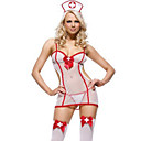 billige Sexede Uniformer-Dame Karriere Kostumer Sygeplejeske Hospitalstjeneste Uniformer Køn Cosplay Kostumer Festkostume Ensfarvet Kjole Underbukser