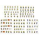 abordables Calcomanías de Agua para Manicura-11 pcs Calcomanías de Uñas 3D arte de uñas Manicura pedicura Moda Diario / Pegatinas de uñas 3D