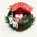 tanie Zabawki bożonarodzeniowe-Boże hang igieł sosny kwiat pierścień obręcz 22 * 22 * 4 losowo