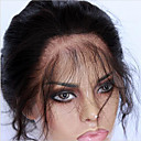 abordables Cierre y Frontal-CARA 360 frontal Ondulado Grande Parte gratuito / Parte Medio / 3 Parte Malla francesa Cabello humano Con Baby Hair