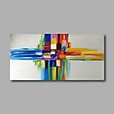 رخيصةأون فن شفاف-هانغ رسمت النفط الطلاء رسمت باليد - تجريدي الحديث تشمل الإطار الداخلي / امتدت قماش