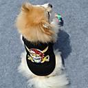 お買い得  ネイルスタンピング-ネコ 犬 Tシャツ 犬用ウェア スカル ブラック コットン コスチューム ペット用 夏 男性用 女性用 ファッション