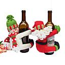 お買い得  クリスマスデコレーション-1個 Santa Wine Bags クリスマス, ホリデーデコレーション ホリデーオーナメント