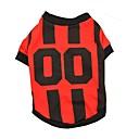 preiswerte Hundekleidung-Katze Hund T-shirt Trikot Hundekleidung Streifen Weiß Orange Rot Blau Baumwolle Kostüm Für Haustiere Herrn Damen Urlaub Sport
