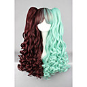 cheap One Pack Hair-Synthetic Wig / Cosplay & Costume Wigs Wavy Synthetic Hair Braided Wig / African Braids Green Wig Women's Capless