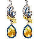 preiswerte Modische Ohrringe-Damen Synthetischer Saphir Tropfen-Ohrringe - Krystall Modisch Blau Für Hochzeit / Party / Alltag / Normal