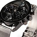 abordables Relojes Deportivo-Oulm Hombre Reloj de Pulsera Dos Husos Horarios / Cool Aleación Banda Casual Plata / SSUO 377