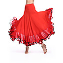 cheap Night Lights-Ballroom Dance Bottoms Women's Performance Milk Fiber Draping Natural Skirt