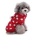 preiswerte Hundekleidung-Katze Hund Pullover Weihnachten Hundekleidung Sterne Rot Blau Baumwolle Kostüm Für Haustiere Herrn Damen Niedlich warm halten