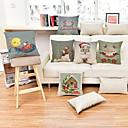 preiswerte Weihnachtsdeko-1 Stück Baumwolle Kissenbezug, Urlaub Akzent dekorativen