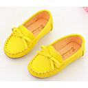 halpa Tyttöjen kengät-Tyttöjen Kengät PU Comfort Mokkasiinit varten Valkoinen / Keltainen / Pinkki