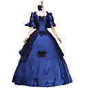 ieftine Costume Antice-Βικτωριανής Εποχής Medieval Costume Pentru femei Rochii Costume petrecere Mascaradă Rochie De Bal Vintage Cosplay Dantelă Bumbac Lung Haine Bal Mărime Plus Size Personalizate / Floral