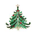abordables Broches-Mujer Broche - damas, Moda, Navidad Broche Joyas Verde Para Fiesta / Ocasión especial / Cumpleaños / Regalo / Diario / Casual