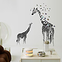 cheap Wall Stickers-Decorative Wall Stickers - Animal Wall Stickers Animals / Still Life / Leisure Bedroom / Study Room / Office / Girls Room / Removable