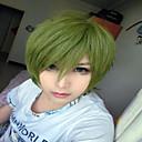 preiswerte Kostümperücke-Synthetische Perücken / Perücken Glatt Synthetische Haare Grün Perücke Damen Kappenlos