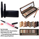 cheap Eye Kits & Palettes-Eyeshadow Palette Mascara Pencil Eyeliner Makeup Eye Eyelash Dry Matte Shimmer Waterproof Fast Dry Long Lasting 12 Colors Cosmetic Grooming Supplies