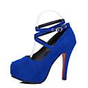 abordables Zapatillas sin Cordones y Mocasines de Mujer-Mujer Zapatos PU Primavera / Verano Confort Tacones Tacón Stiletto Dedo redondo Negro / Rojo / Azul / Vestido
