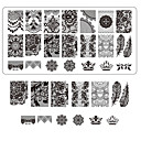 cheap Nail Stamping-lace printing nail art stamping decor diy manicure stamping plates for nails templates salon tools bc03