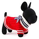 preiswerte Haustier Weihnachten Kostüm-Katze Hund Pullover Weihnachten Hundekleidung Einfarbig Rot Blau Rayon / Polyester Kostüm Für Haustiere Herrn Damen Niedlich Neujahr