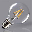 billige LED filamentlamper-1pc 4 W 350 lm E26 / E27 LED-glødepærer G125 4 LED perler COB Dekorativ Varm hvit / Gul 220-240 V / 1 stk. / RoHs