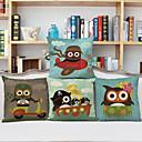 baratos Almofadas de Decoração-4.0 pçs Linho Fronha, Estampas Abstratas Tom/Decoração