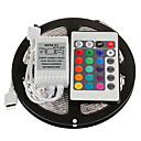 cheap LED Strip Lights-ZDM 5M 300 x 2835 RGB LED Strips Light Flexible and IR 24Key Remote Control   Linkable / Self-adhesive / Color-Changing