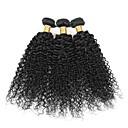 זול תוספות שיער בגוון טבעי-שיער ברזיאלי Kinky Curly / מתולתל לארוג טווה שיער אדם 3 חבילות שוזרת שיער אנושי שחור תוספות שיער אדם / קינקי קרלי
