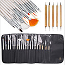 billige Trening og display til neglekunst-20 Wood håndverk KIT Klassisk Chic & Moderne Nail Art Drill Kit Neglebørster Klassisk Chic & Moderne