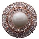 billige Kjøkkenredskap-Dame Nåler Luksus Perle Zirkonium Kubisk Zirkonium Sirkelformet Geometrisk Form Gull Sølv Smykker Til Daglig