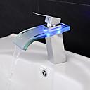povoljno Slavine za umivaonik-kupaonica sudoper slavina - vodopad / vodio krom centara single handle jedna rupa kupka slavine