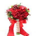 "baratos Bouquets de Noiva-Bouquets de Noiva Buquês Casamento Festa / Noite Tafetá Elastano Flôr Seca Miçangas Renda Poliéster Cetim 11.02""(Aprox.28cm)"