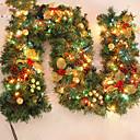 tanie Dekoracje bożonarodzeniowe-Feliz Navidad de CAA de Navidad wreathoriginal Ratn verde de Navidad wianka Partido decoracin de Ratn pcv ornamento