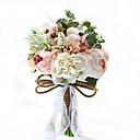 """baratos Bouquets de Noiva-Bouquets de Noiva Buquês Casamento Festa / Noite Tafetá Elastano Flôr Seca Renda Strass Poliéster Cetim 9.84""""(Aprox.25cm)"""
