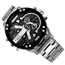 Недорогие Армейские часы-Муж. Модные часы Нарядные часы Армейские часы Кварцевый Черный / Серебристый металл Календарь С двумя часовыми поясами Cool Аналоговый Кулоны Роскошь Классика На каждый день - Зеленый Черный / Белый