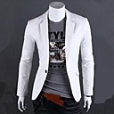 cheap Women's Sneakers-Men's Cotton Slim Blazer - Solid Colored Notch Lapel