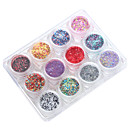 cheap Nail Glitter-12PCS Mix Colour Sequins 12 Conventional ZY More Size Many Shapes Multicolor Mixed Suit No. 3