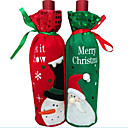 preiswerte Weihnachtsdeko-1 Stück Weihnachtsweinflasche Weinflasche Tasche