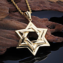 cheap Men's Necklaces-Men's Pendant Necklace - 18K Gold Plated, Stainless Steel Star Personalized, European, Fashion Gold Necklace Jewelry For Party, Daily, Casual