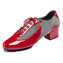 cheap Tap Shoes-Men's / Women's Latin Shoes / Jazz Shoes / Dance Sneakers Leatherette Sneaker Low Heel Customizable Dance Shoes White / Black / Red