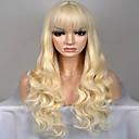Χαμηλού Κόστους Εργαλεία & Αξεσουάρ-Συνθετικές Περούκες Φυσικό Κυματιστό Στυλ Χωρίς κάλυμμα Περούκα Ξανθό Blonde Συνθετικά μαλλιά Γυναικεία Ξανθό Περούκα Μακρύ / πολύ μακριά Φυσική περούκα