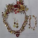 billige Smykkesæt-Dame Krystal Smykkesæt - Omfatte Rød Til Bryllup Fest