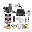 cheap Starter Tattoo Kits-DRAGONHAWK Tattoo Machine Starter Kit - 1 pcs Tattoo Machines with 4 x 5 ml tattoo inks, Professional, Safety, Easy to Install Alloy Mini power supply Case Not Included 1 cast iron machine liner