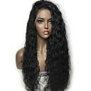 olcso Férfi karkötők-Emberi haj Tüll homlokrész / Csipke eleje Paróka Brazil haj Hullám Paróka Tincselve 130% Természetes hajszálvonal / Afro-amerikai paróka / 100% kézi csomózású Női Rövid / Közepes / Hosszú Emberi