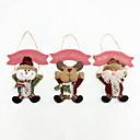 cheap Holiday Party Decorations-Holiday Decorations Animals / Snowmen / Santa Ornaments Christmas 1 / 2 / 3