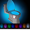 cheap Night Lights-BRELONG 1 pc Upgrade Waterproof 8-color Human Body Motion Sensor PIR Toilet Night Light