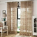 baratos Cortinas Transparentes-Europeu Sheer Curtains Shades Um Painel Sala de Estar   Curtains / Jacquard