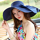 cheap Earrings-Women's Holiday Outdoor Straw Hat - Solid Colored